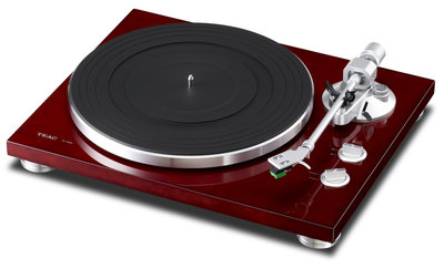 Teac TN-300 cherry wood platenspeler
