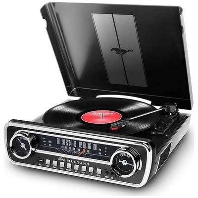 ION Mustang LP zwart platenspeler