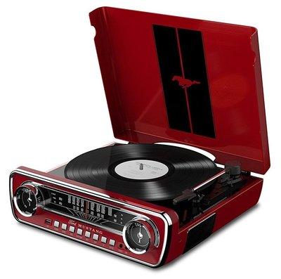 ION Mustang LP rood platenspeler