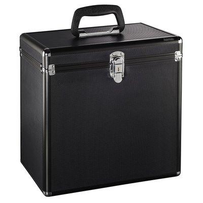 Hama LP-koffer 50 alu-look zwart