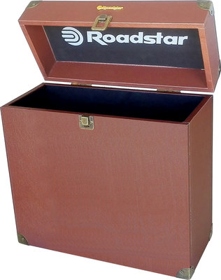 Roadstar Brown platenkoffer