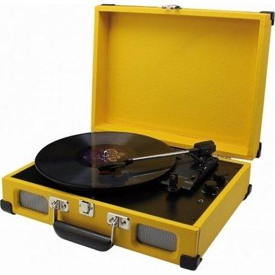 Soundmaster PL580 geel platenspeler