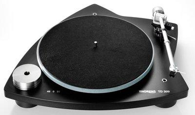 Thorens TD 309 matzwart platenspeler
