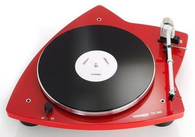 Thorens TD 209 rood platenspeler