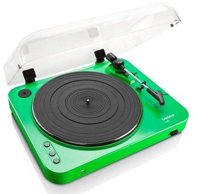 Lenco L-85 groen platenspeler