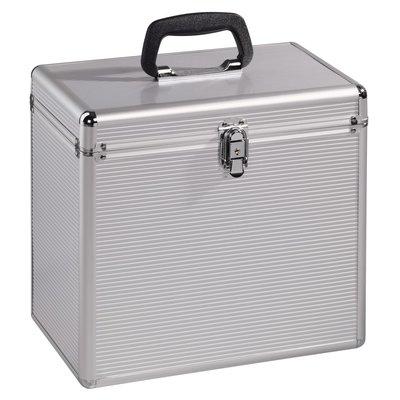 Hama LP-koffer 50 alu-look zilver
